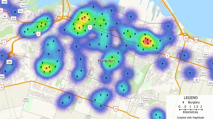 Crime mapping Software: