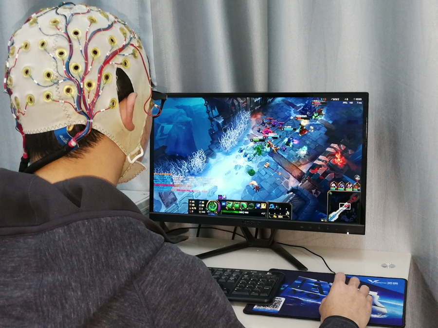 Game player improving brain